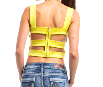 Yellow Crop Top - NULABoutique