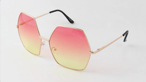 Gigi Sunglasses - Pink/Yellow - NULABoutique