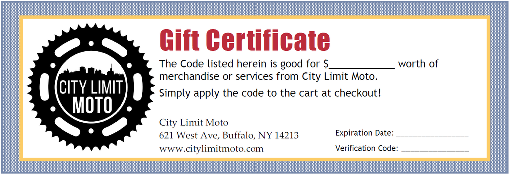 NOW OFFERING GIFT CERTIFICATES!