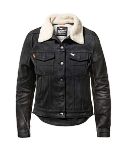Saint Women's Unbreakable Jacket w/Detachable Shearling Collar - Black - City Limit Moto