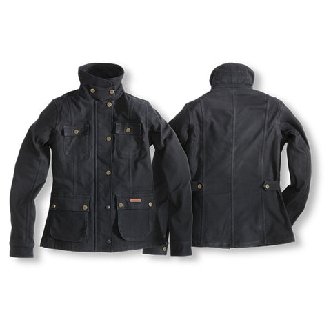 "Rokker ""Black Jakket"" Women's Riding Jacket - City Limit Moto"