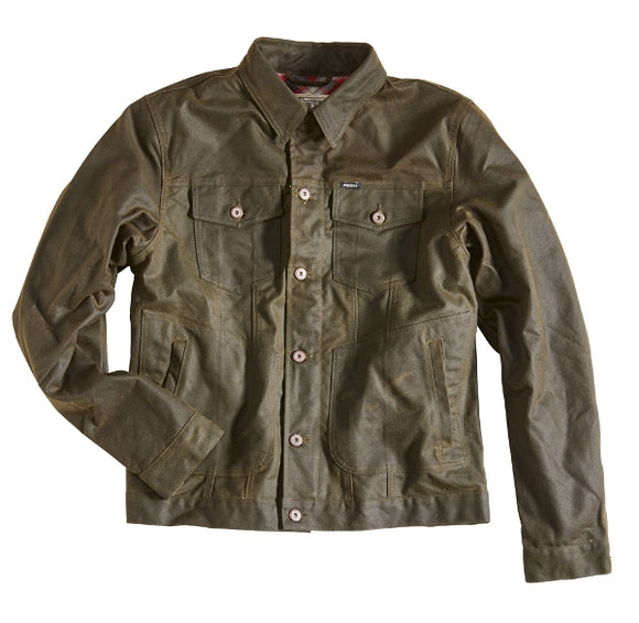 Rokker Men's Waxed Cotton Riding Jacket - Racing Green - City Limit Moto