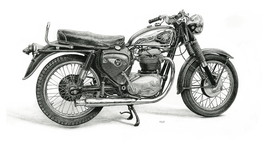 "Iron And Oil Artwork - ""BSA"" - City Limit Moto"