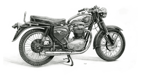 "Iron And Oil Artwork - ""BSA"""