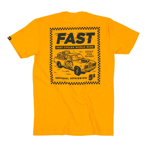 "Fasthouse ""TICKET"" Tee Shirt - Gold - City Limit Moto"