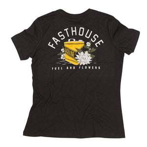 "Fasthouse ""FUEL & FLOWERS"" Tee Shirt - Black - City Limit Moto"