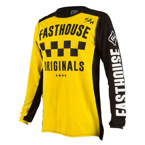 "Fasthouse ""CHECKERS OG"" Jersey - Yellow - City Limit Moto"