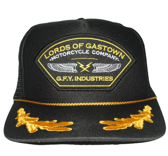 Lords of Gastown - G.F.Y. Military Foam Captain Hat - City Limit Moto