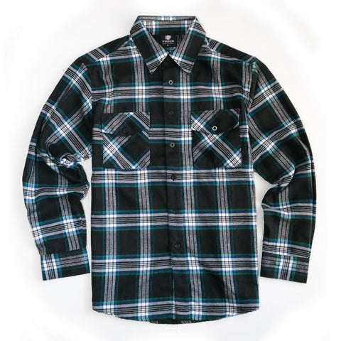 Green Stripe Flannel - City Limit Moto