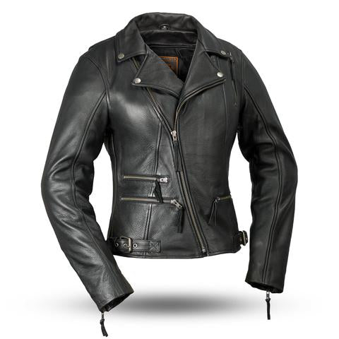 "First Manufacturing ""Monte Carlo"" Women's Leather Jacket - City Limit Moto"