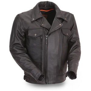 "First Manufacturing ""MASTERMIND"" Men's Leather Jacket - City Limit Moto"