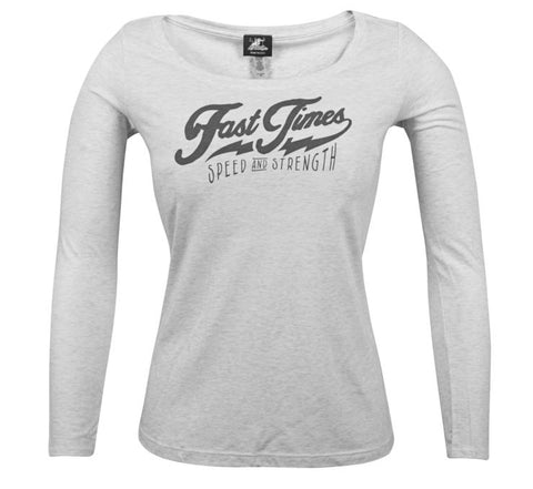 "Women's Speed And Strength ""FAST TIMES"" Long Sleeve Tee - City Limit Moto"