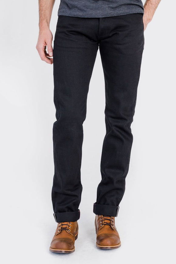 Tobacco Motorwear Black Selvedge Jeans - City Limit Moto