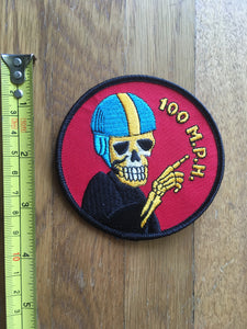 MotoBlot Patch - 100 MPH - City Limit Moto
