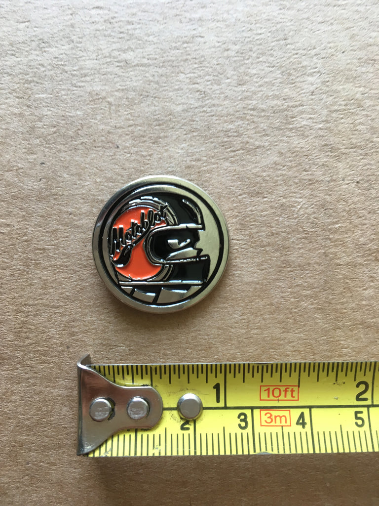 MotoBlot Pin - Orange Helmet - City Limit Moto