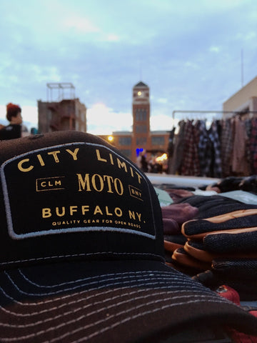 City Limit Moto Curved Bill Snapback Hat - City Limit Moto