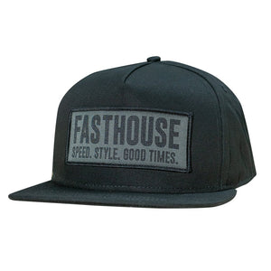 "Fasthouse ""OG BOX"" Hat - Black - City Limit Moto"