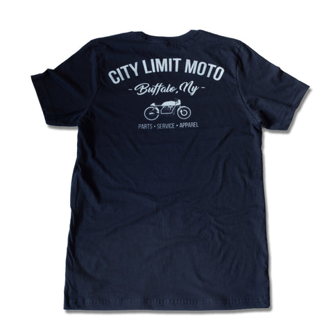 Shop Tee - Black Short Sleeve - City Limit Moto