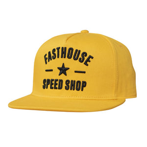 "Fasthouse ""SPEED STAR"" Hat - Yellow - City Limit Moto"