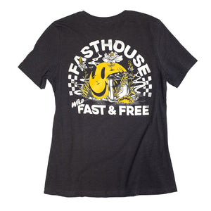 "Fasthouse ""Wild one"" Women's Tee - Heather Black"