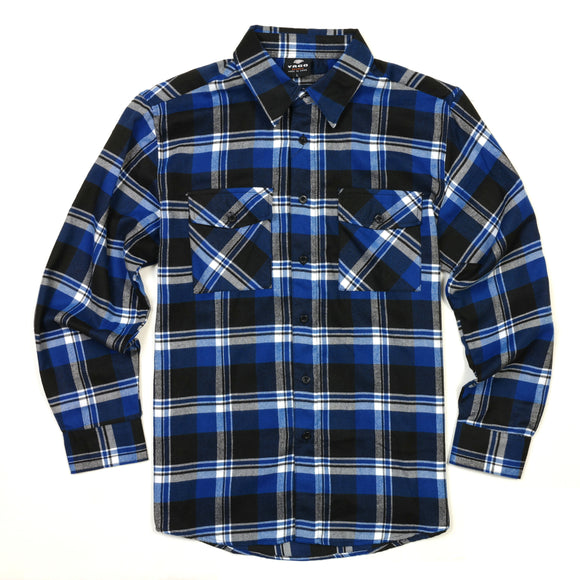 Black 'n Blue Flannel - City Limit Moto