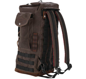 Burly Brand Voyager Sissy Bar Backpack Dark Oak - City Limit Moto