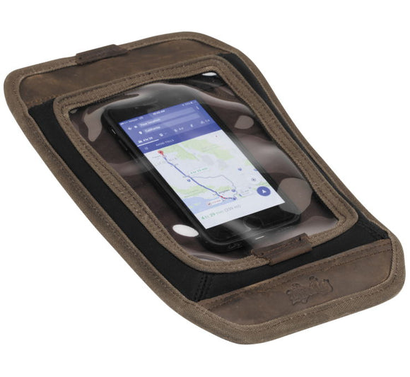 Burly Brand Voyager Tank Pad Dark Oak - City Limit Moto