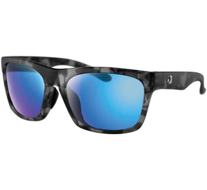 "Bobster ""ROUTE"" Sunglasses - Matte Gray Tortoise Frame/Purple HD/Light Blue Revo Lens - City Limit Moto"