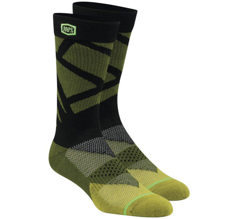 "100% Men's ""RIFT"" Crew Socks - City Limit Moto"