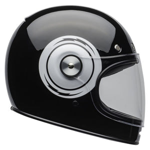 "Bell ""BULLITT BOLT"" Helmet - Bolt Gloss Black/White - City Limit Moto"