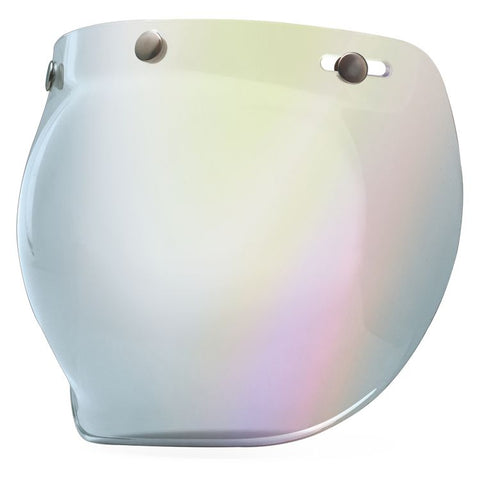 Bell 3-Snap Bubble Shield - Silver Iridium - City Limit Moto
