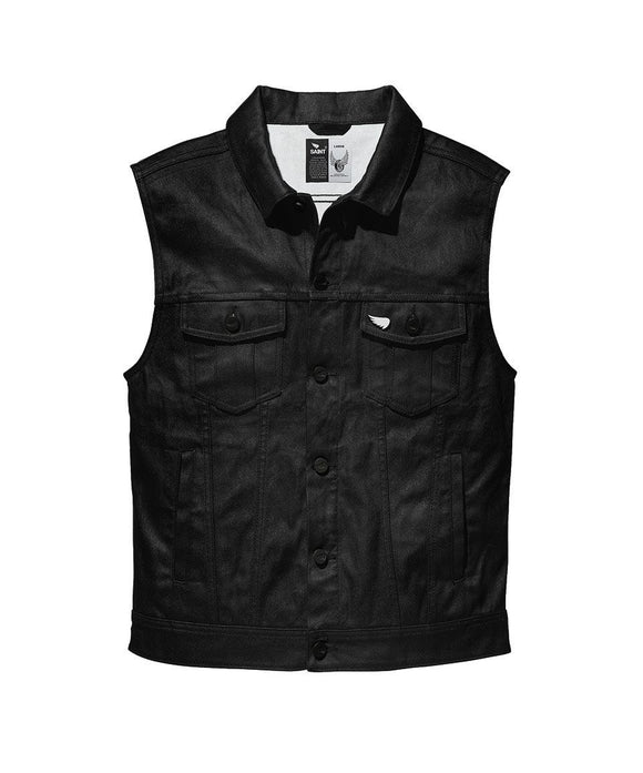 Saint Moto Denim Vest - Black - City Limit Moto