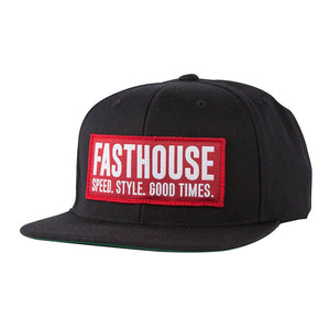 "Fasthouse ""BLOCK HOUSE"" Hat - Black / Red - City Limit Moto"
