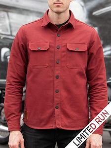 Tobacco Motorwear California Riding Shirt 2.0 - Brick Red Canvas - City Limit Moto