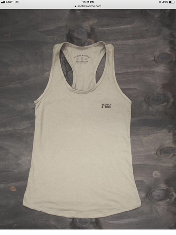 "Scotch & Iron ""Mini Box Logo"" Women's Tank Top - City Limit Moto"