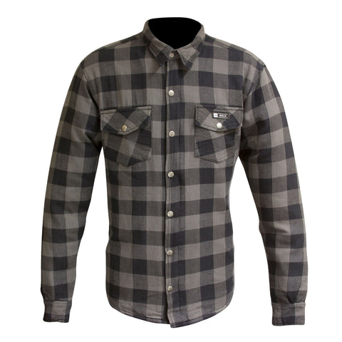 "Merlin ""Axe"" Kevlar Flannel - Grey - City Limit Moto"