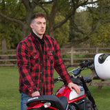 "Merlin ""Axe"" Kevlar Flannel - Red - City Limit Moto"