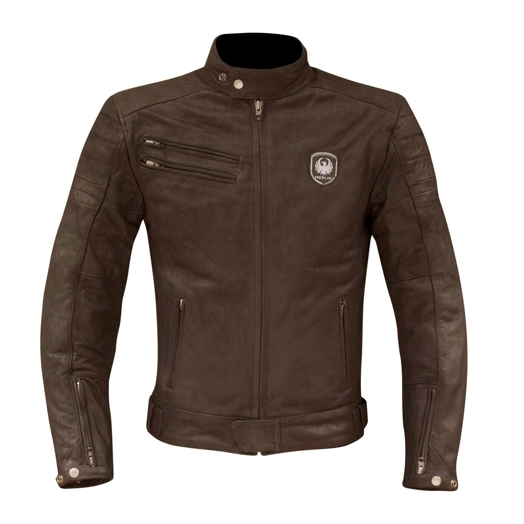 "Merlin ""Alton"" Leather Jacket - Brown - City Limit Moto"
