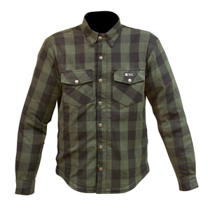 "Merlin ""Axe"" Kevlar Flannel - Green - City Limit Moto"
