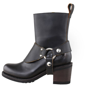 "Rokker ""Freeway"" Women's Boots - Antique Black - City Limit Moto"