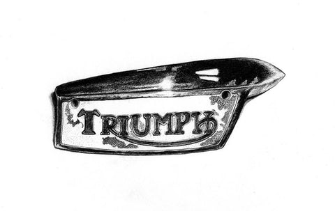"Iron And Oil Artwork - ""Triumph Badge"" - City Limit Moto"