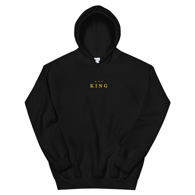 King Embroidery Hooded Sweatshirt