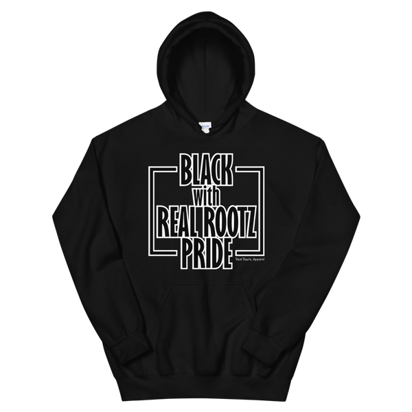 """Black Pride"" Unisex Hoodie (Black and White Lettering)"