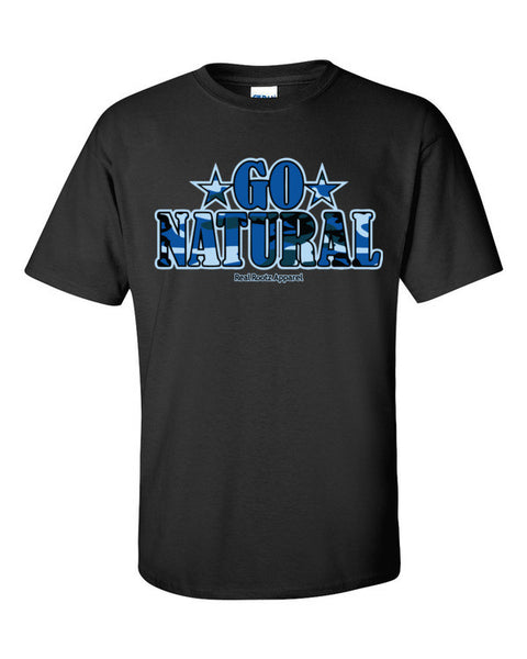 "Go Natural ""Blue Camouflage"" Men's T-Shirt"