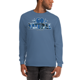 "Go Natural ""Blue Camouflage"" Men's Long Sleeve T-Shirt"