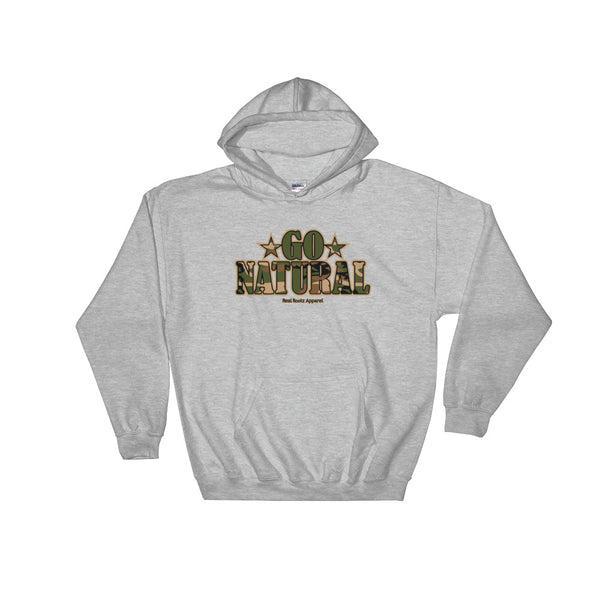 "Go Natural ""Green Camouflage"" Women's Hooded Sweatshirt"
