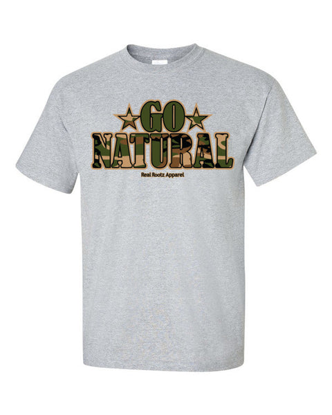 "Go Natural ""Green Camouflage"" Men's T-Shirt"