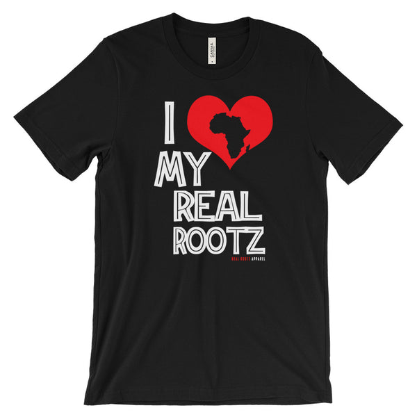 I Love My Real Rootz Unisex Short Sleeve T-Shirt (Womens)