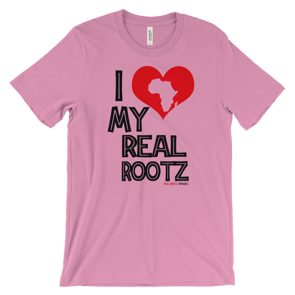 """I Love My Real Rootz"" Women's T-Shirt (Black Lettering)"