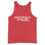 """Naturally Stong"" Tank Top (White Lettering)"